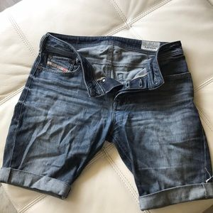 Diesel jean shorts. Size 28, 9 inches leg length
